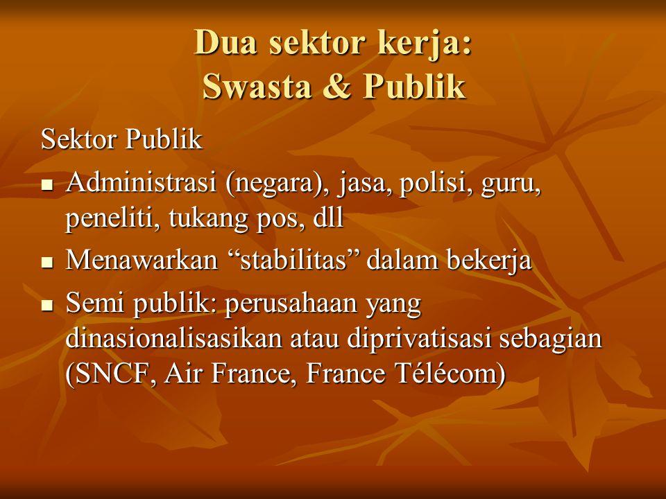 Dua sektor kerja: Swasta & Publik
