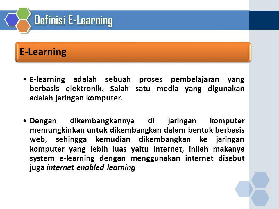 Definisi E-Learning E-Learning