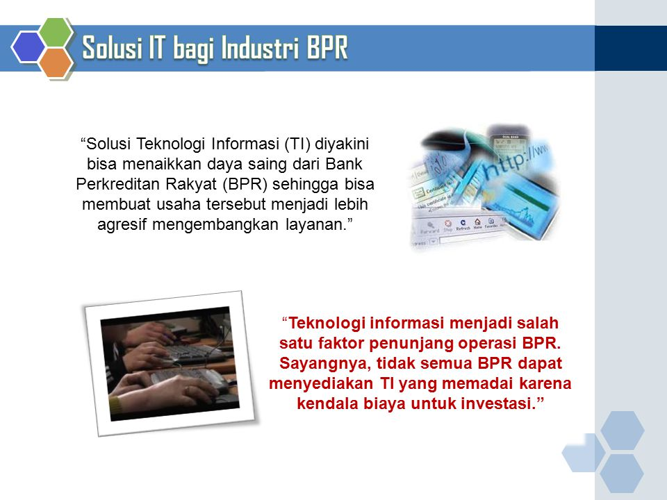 Solusi IT bagi Industri BPR