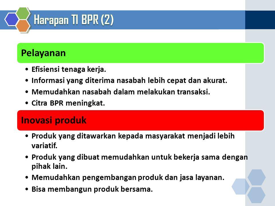 Harapan TI BPR (2) 28 Pelayanan Efisiensi tenaga kerja.