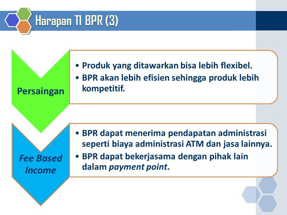 Harapan TI BPR (3) Produk yang ditawarkan bisa lebih flexibel.