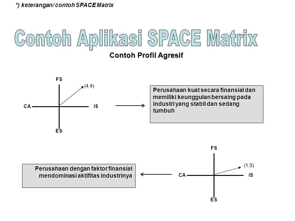 Contoh Aplikasi SPACE Matrix