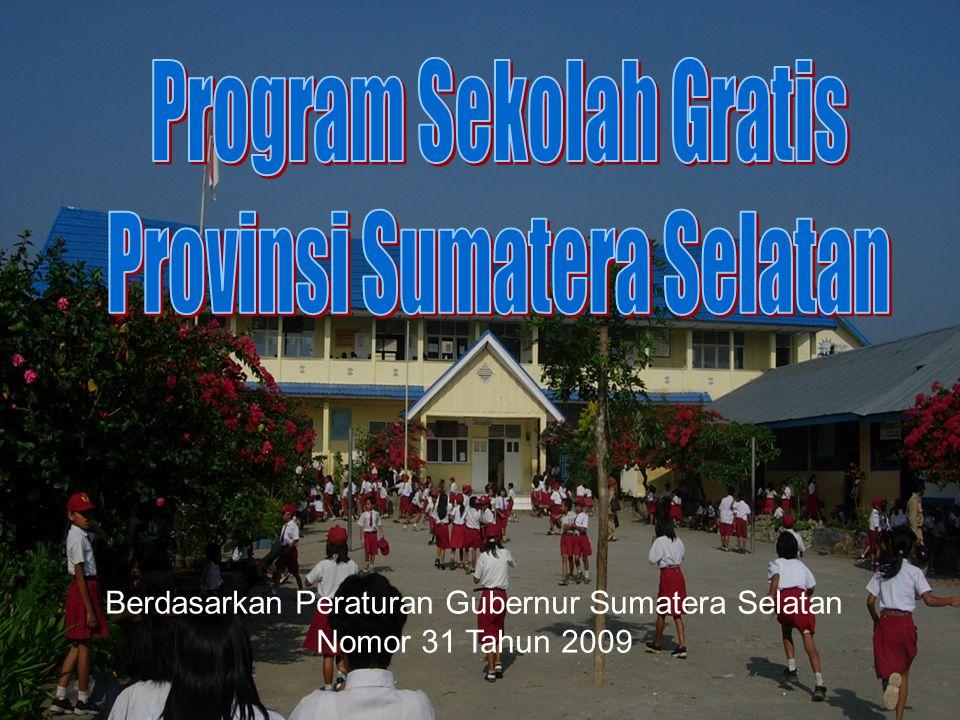 Program Sekolah Gratis Provinsi Sumatera Selatan