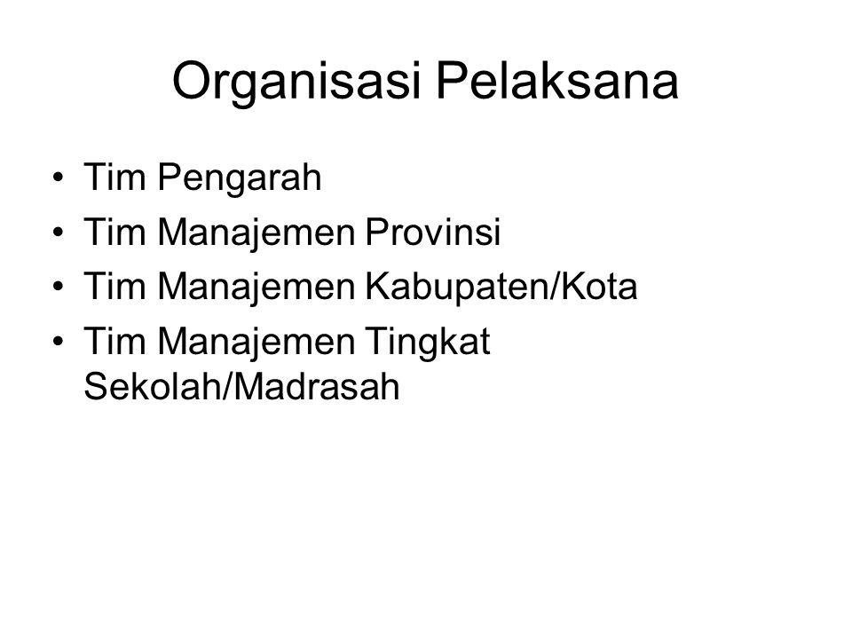 Organisasi Pelaksana Tim Pengarah Tim Manajemen Provinsi