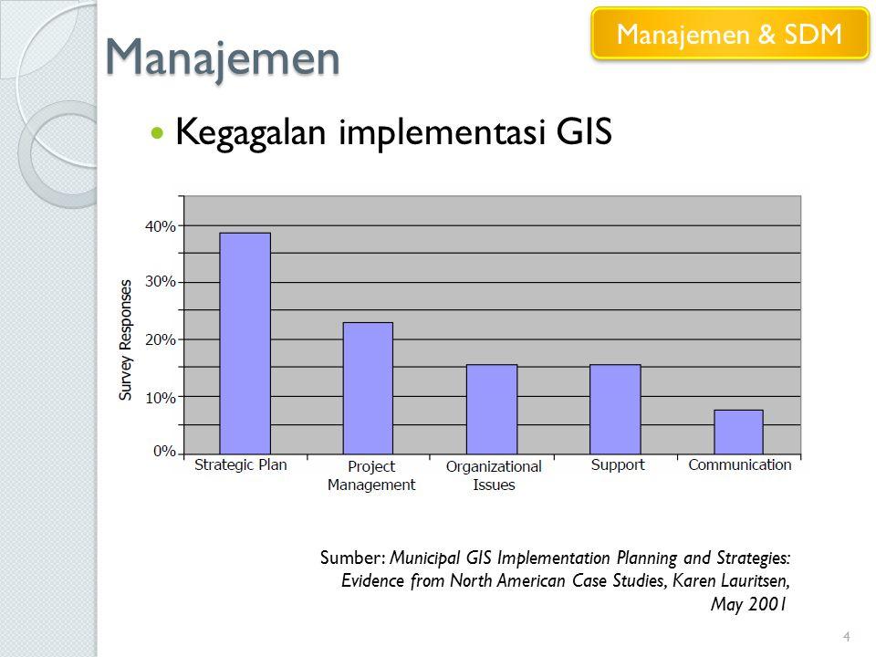 Manajemen Kegagalan implementasi GIS Manajemen & SDM