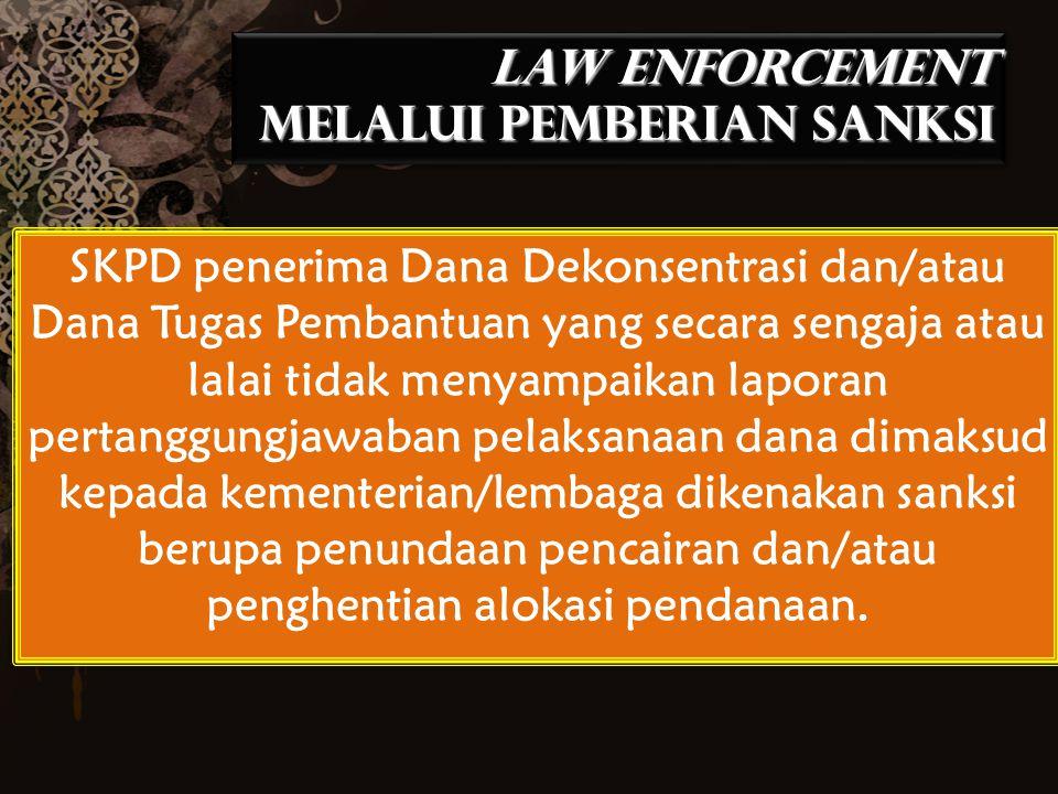 LAW ENFORCEMENT MELALUI PEMBERIAN SANKSI