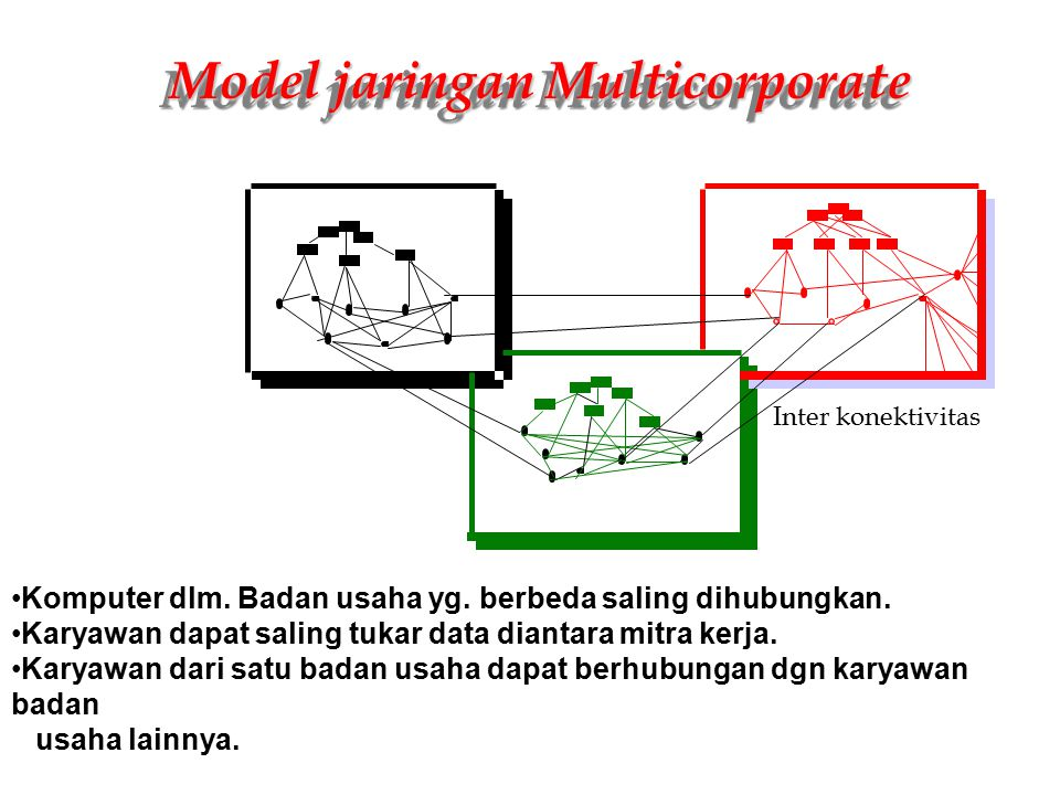 Model jaringan Multicorporate