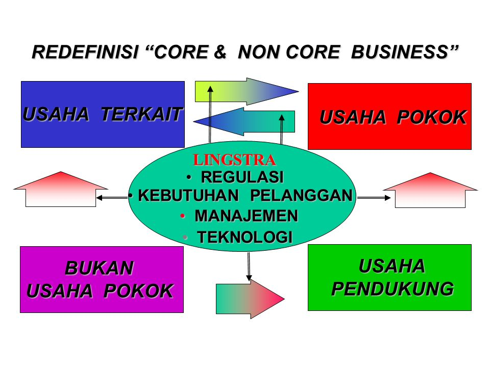 REDEFINISI CORE & NON CORE BUSINESS