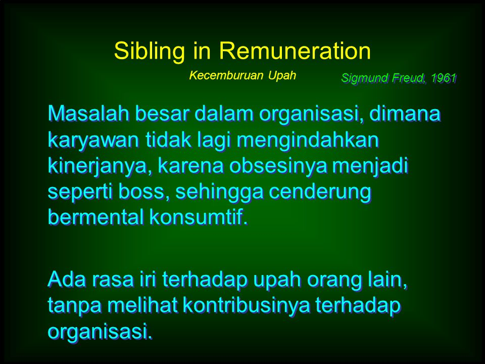 Sibling in Remuneration Kecemburuan Upah