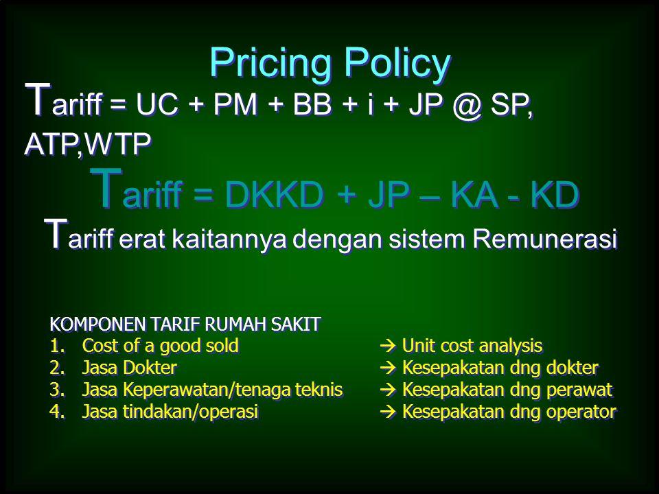 Tariff = DKKD + JP – KA - KD