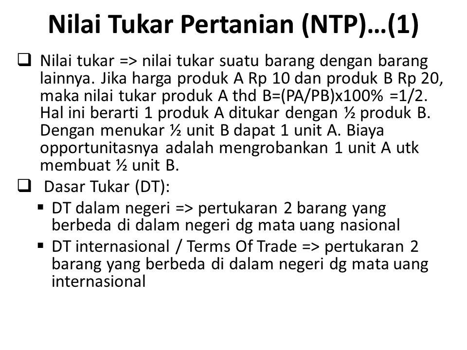 Nilai Tukar Pertanian (NTP)…(1)
