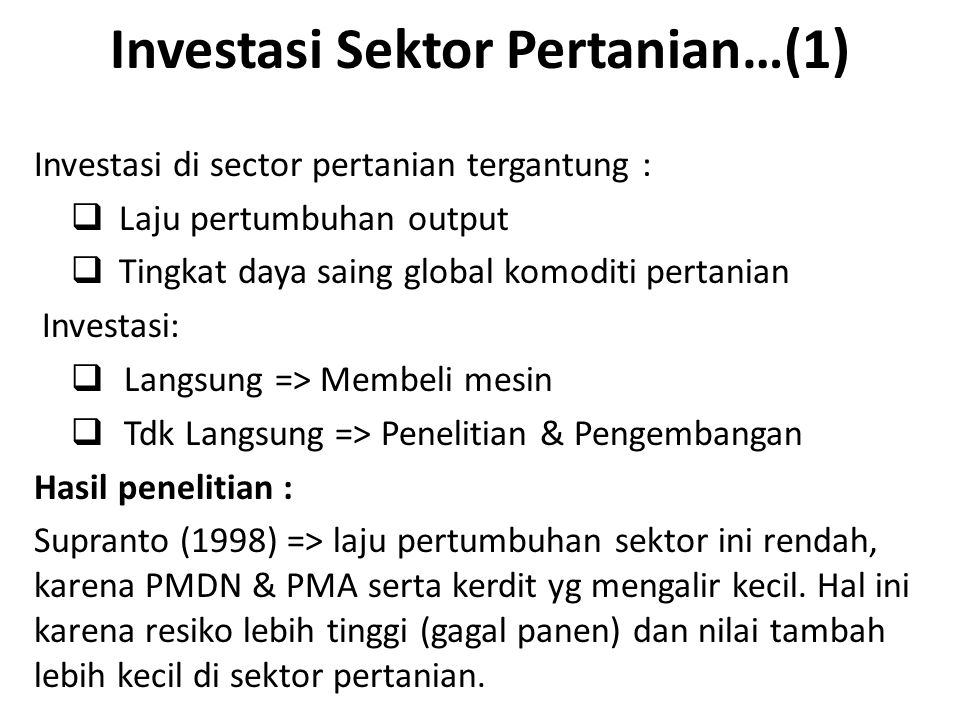 Investasi Sektor Pertanian…(1)