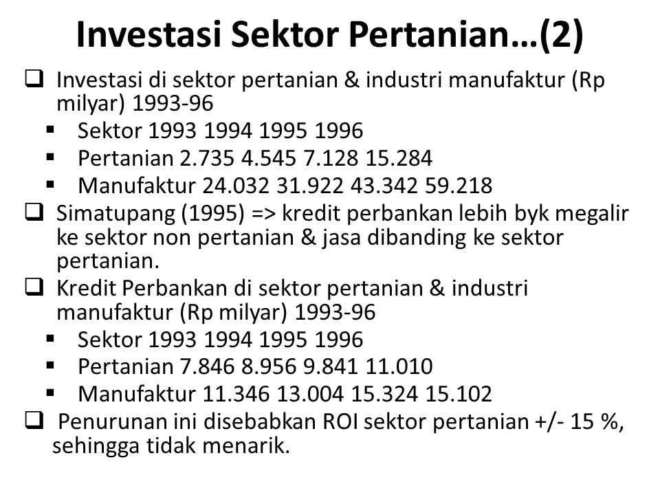Investasi Sektor Pertanian…(2)