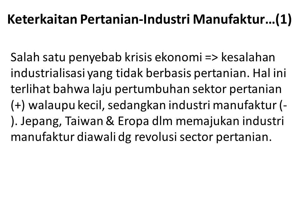 Keterkaitan Pertanian-Industri Manufaktur…(1)