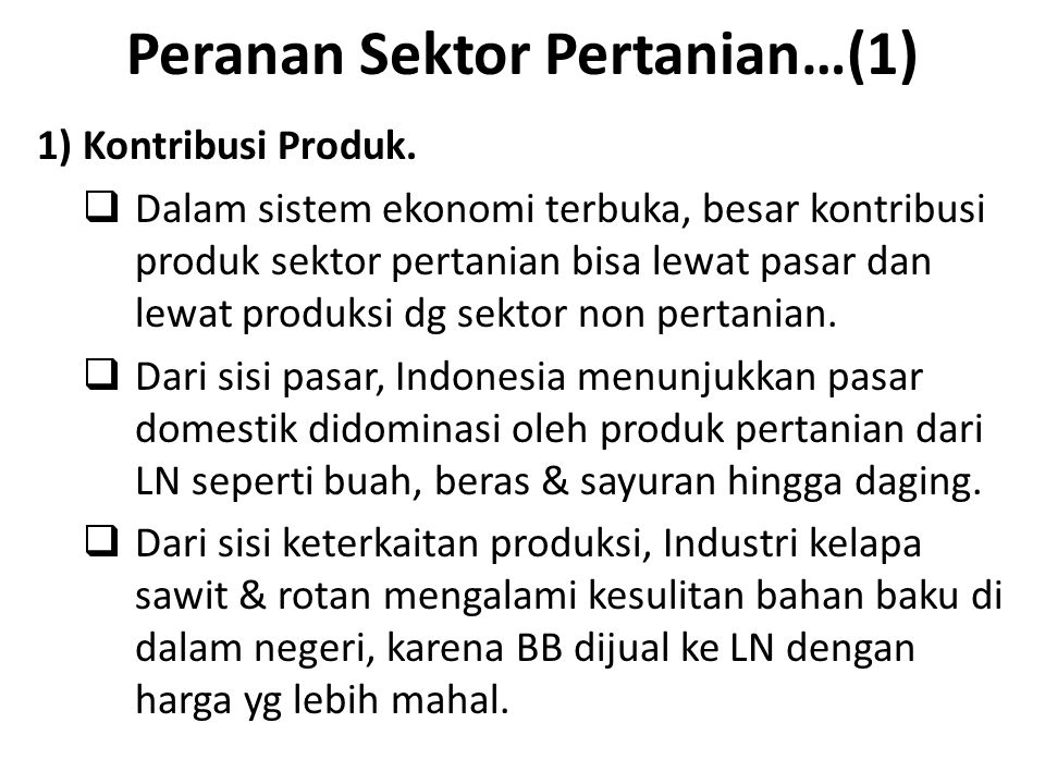 Peranan Sektor Pertanian…(1)