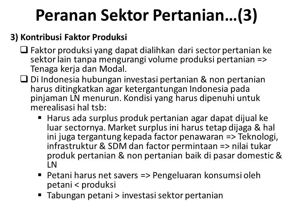 Peranan Sektor Pertanian…(3)