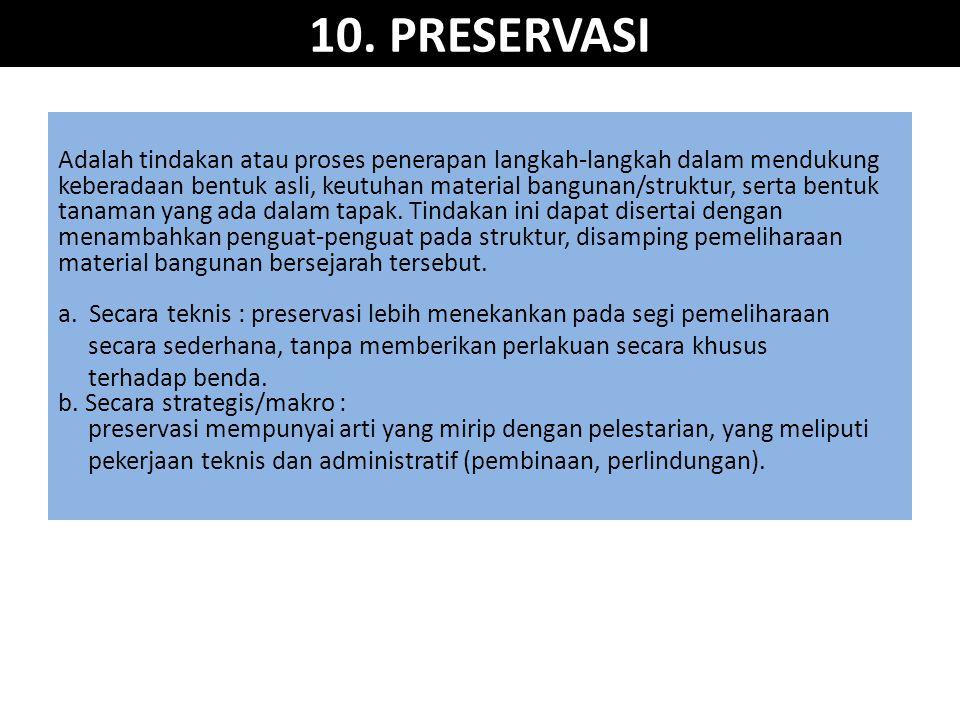 10. PRESERVASI