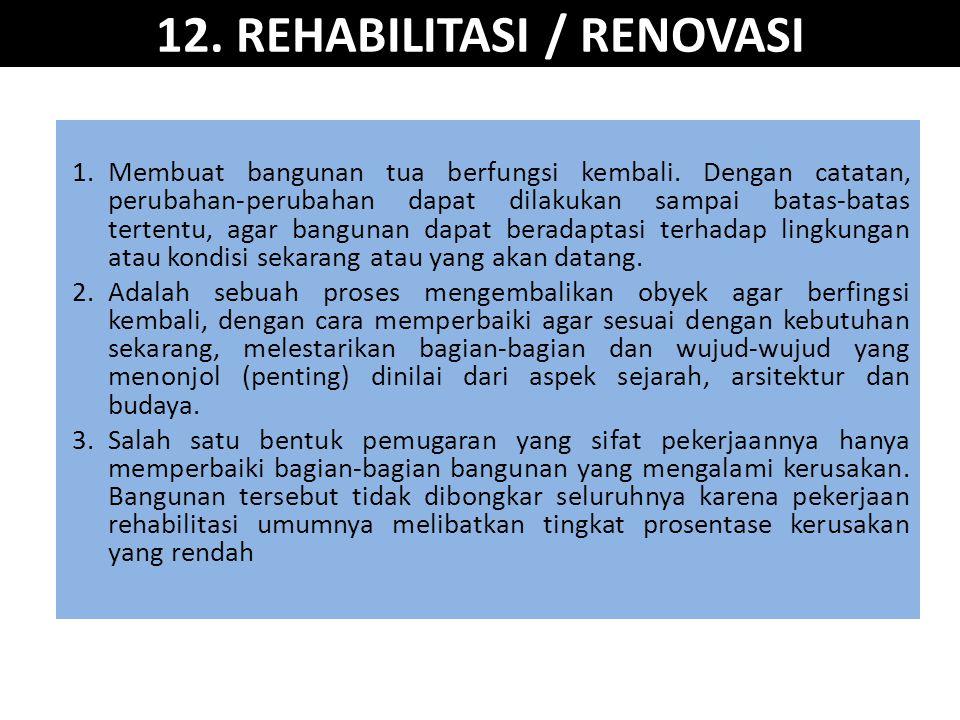 12. REHABILITASI / RENOVASI