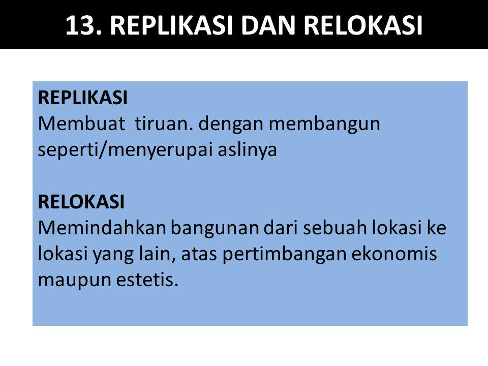 13. REPLIKASI DAN RELOKASI