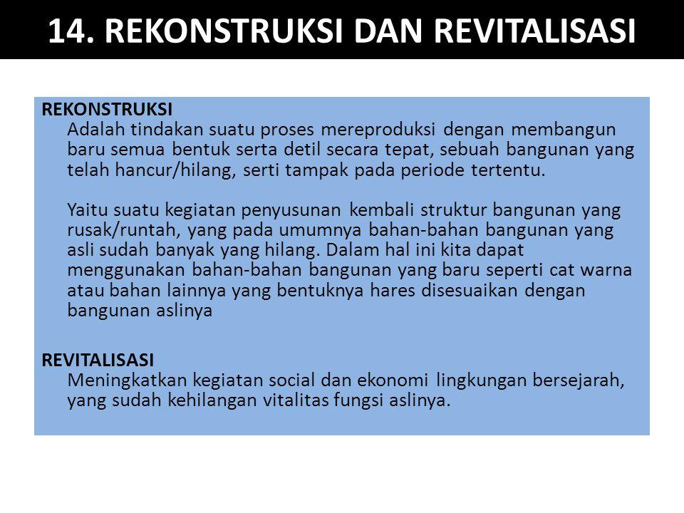 14. REKONSTRUKSI DAN REVITALISASI