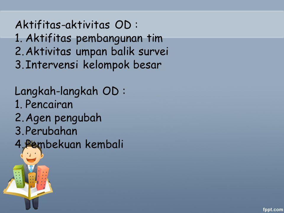 Aktifitas-aktivitas OD :