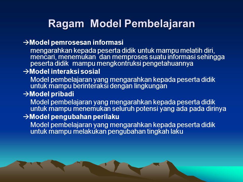 Ragam Model Pembelajaran