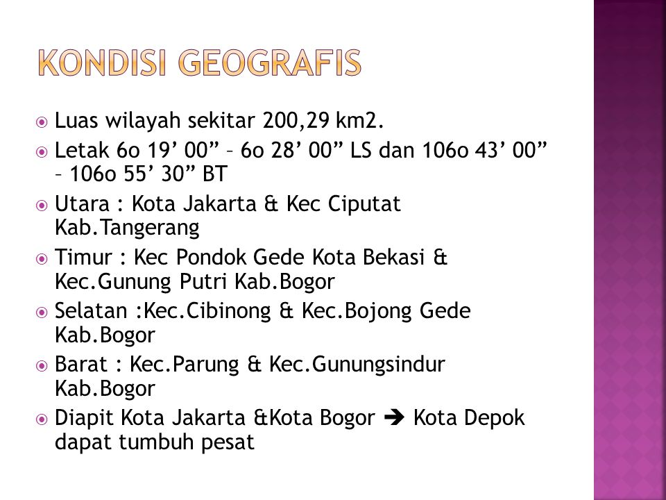 Kondisi geografis Luas wilayah sekitar 200,29 km2.