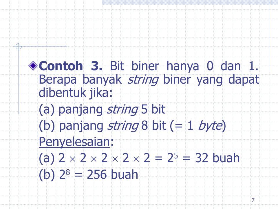 Contoh 3. Bit biner hanya 0 dan 1