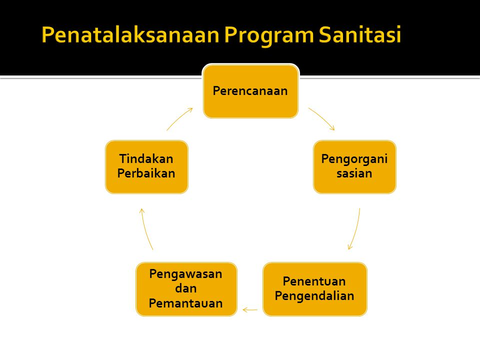 Penatalaksanaan Program Sanitasi