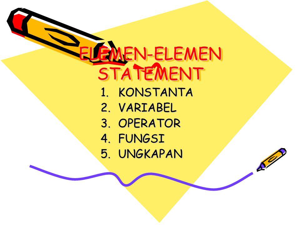 ELEMEN-ELEMEN STATEMENT