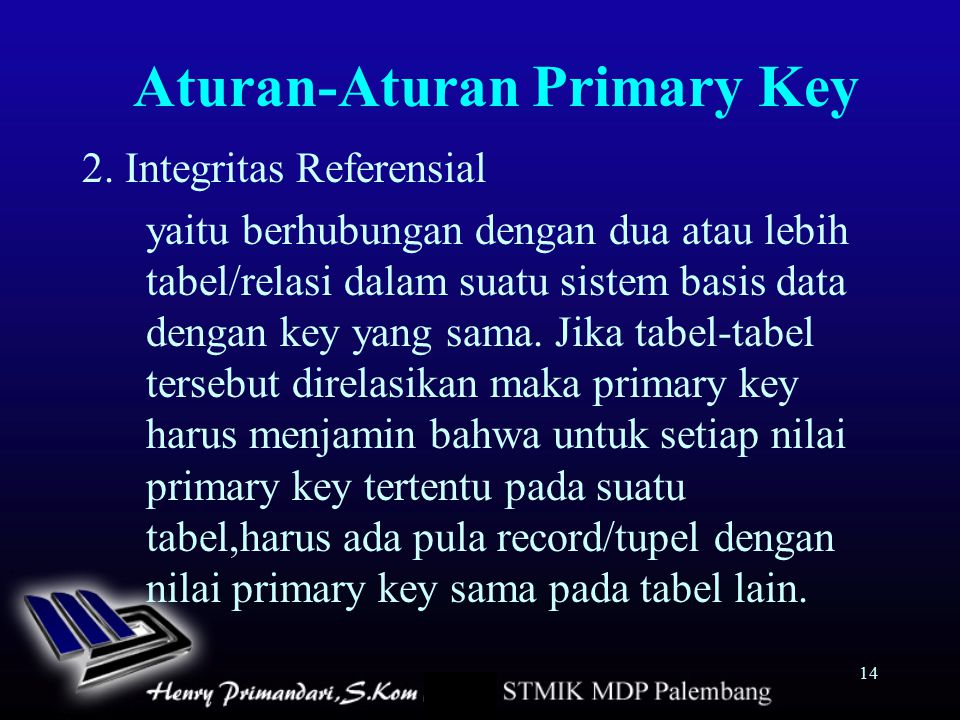 Aturan-Aturan Primary Key