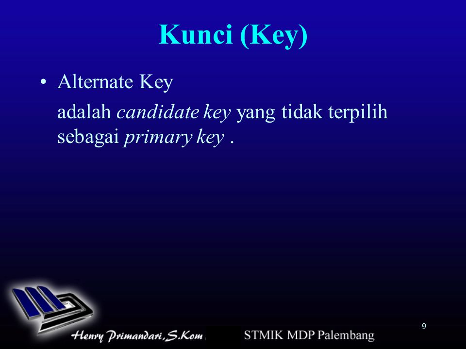 Kunci (Key) Alternate Key