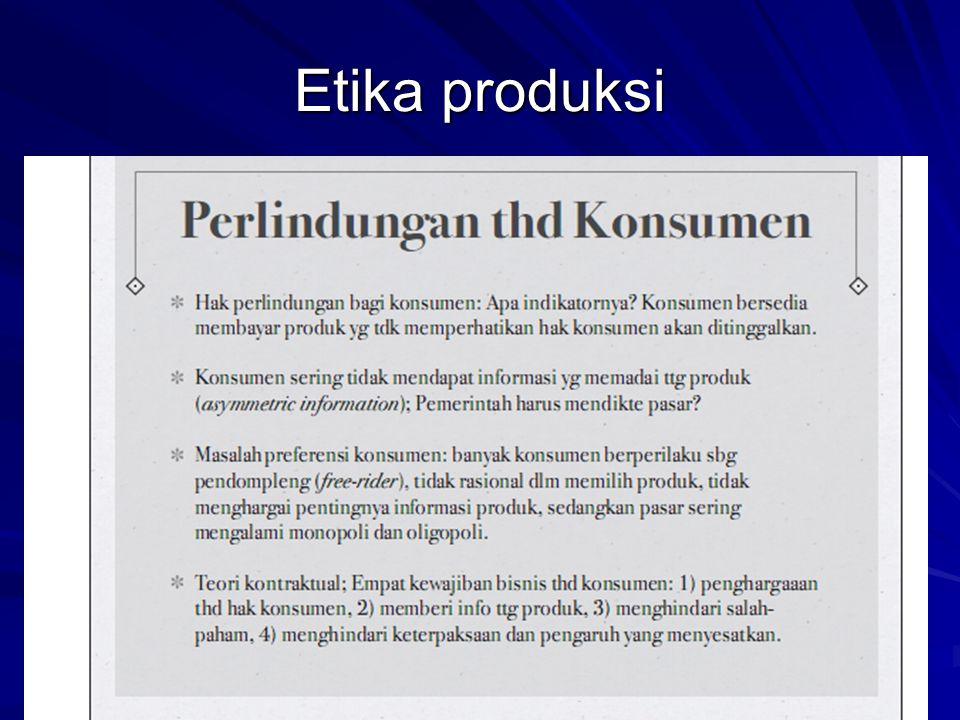 Etika produksi