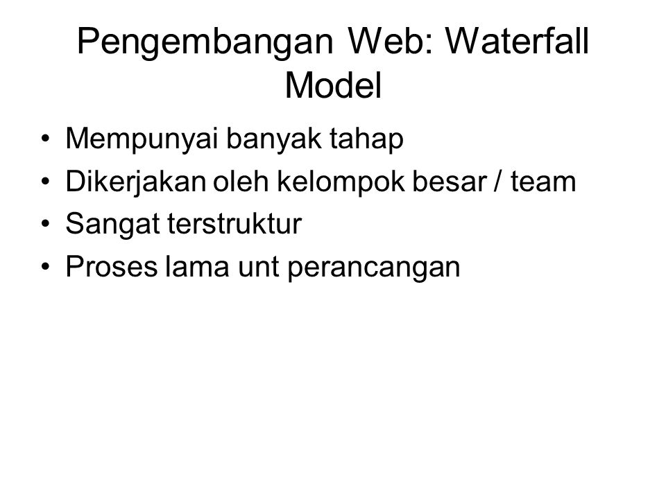 Pengembangan Web: Waterfall Model