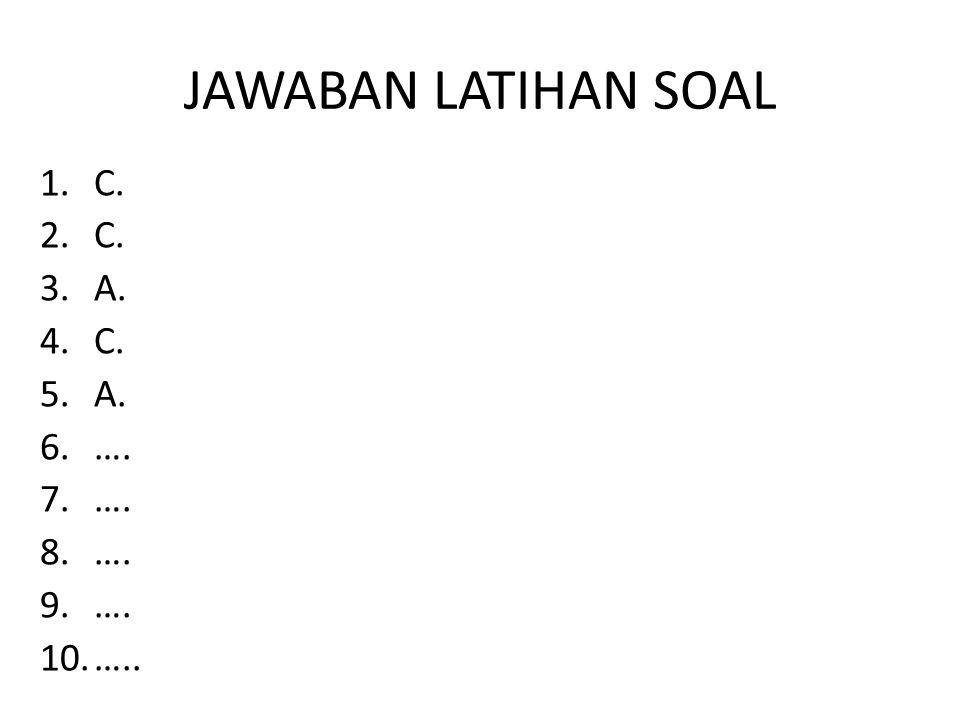 JAWABAN LATIHAN SOAL C. A. …. …..