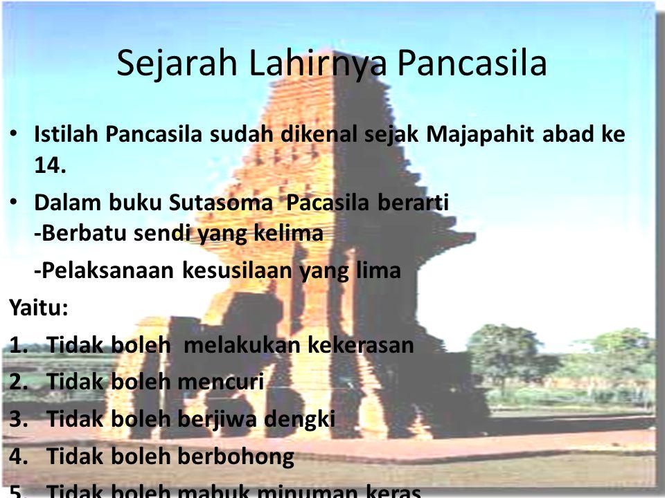 Sejarah Lahirnya Pancasila