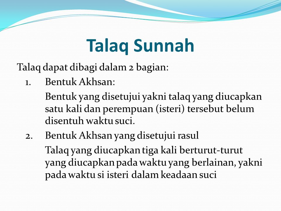 Talaq Sunnah