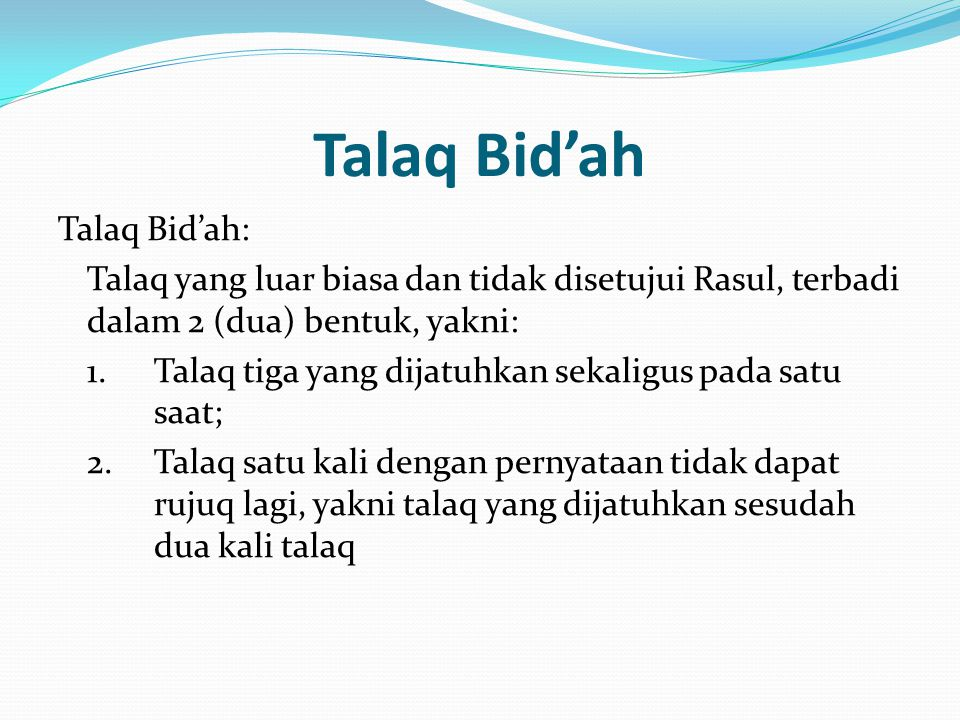 Talaq Bid'ah