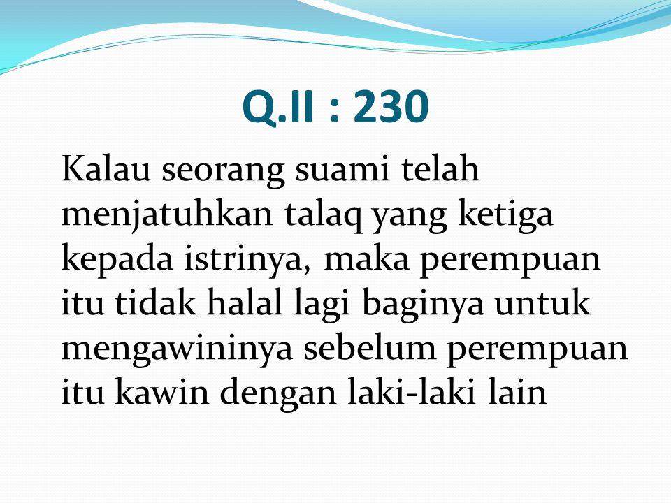 Q.II : 230