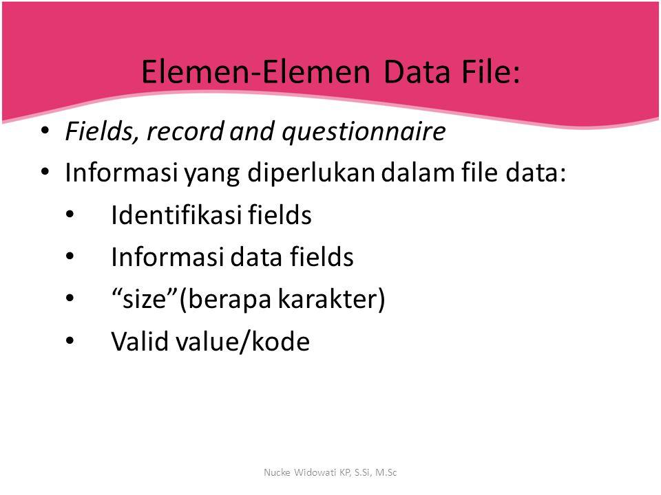 Elemen-Elemen Data File: