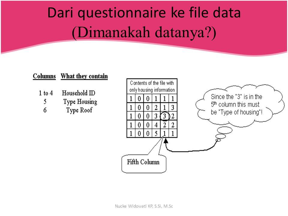 Dari questionnaire ke file data (Dimanakah datanya )