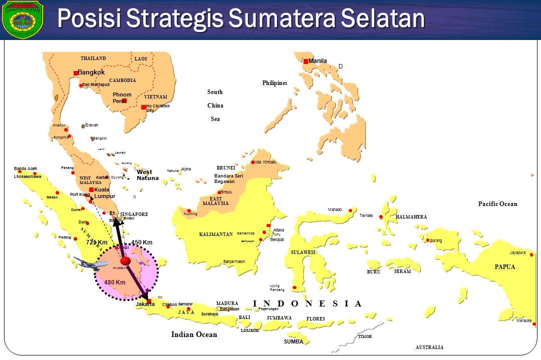 Posisi Strategis Sumatera Selatan