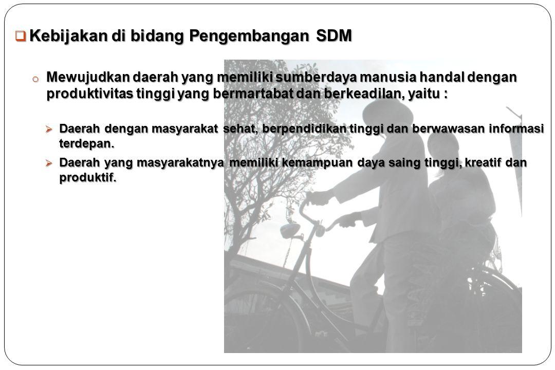 Kebijakan di bidang Pengembangan SDM