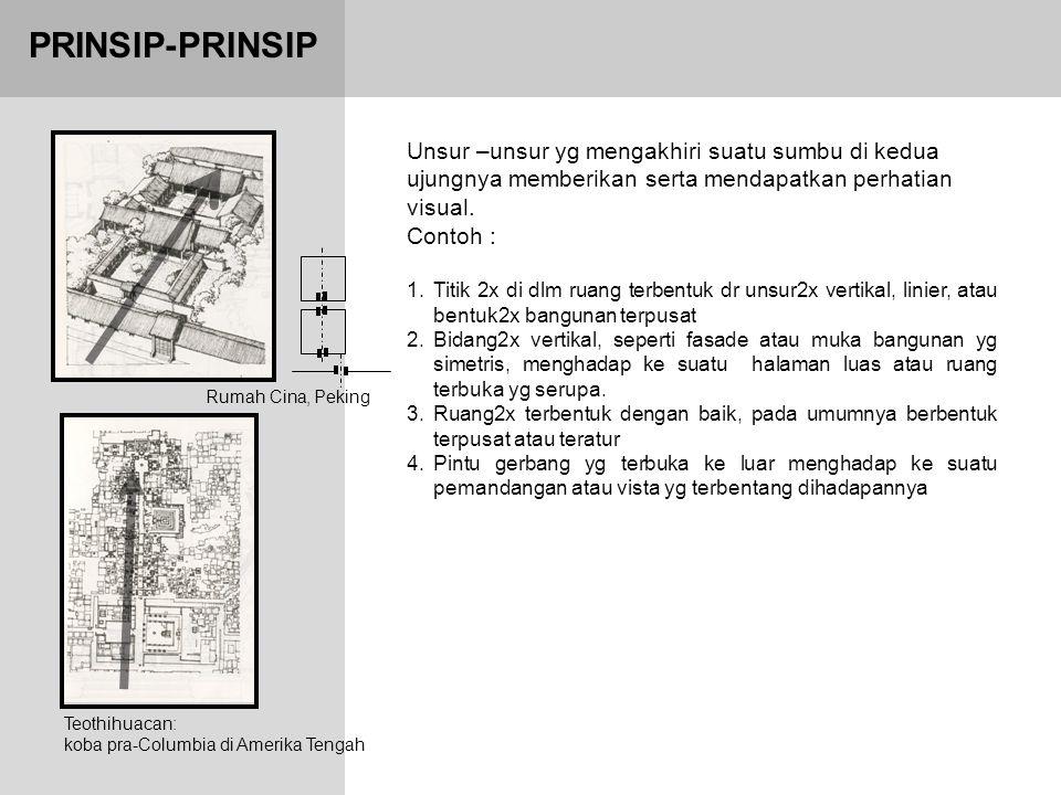 PRINSIP-PRINSIP Unsur –unsur yg mengakhiri suatu sumbu di kedua