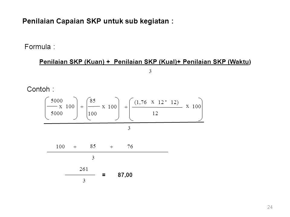 Penilaian SKP (Kuan) + Penilaian SKP (Kual)+ Penilaian SKP (Waktu)