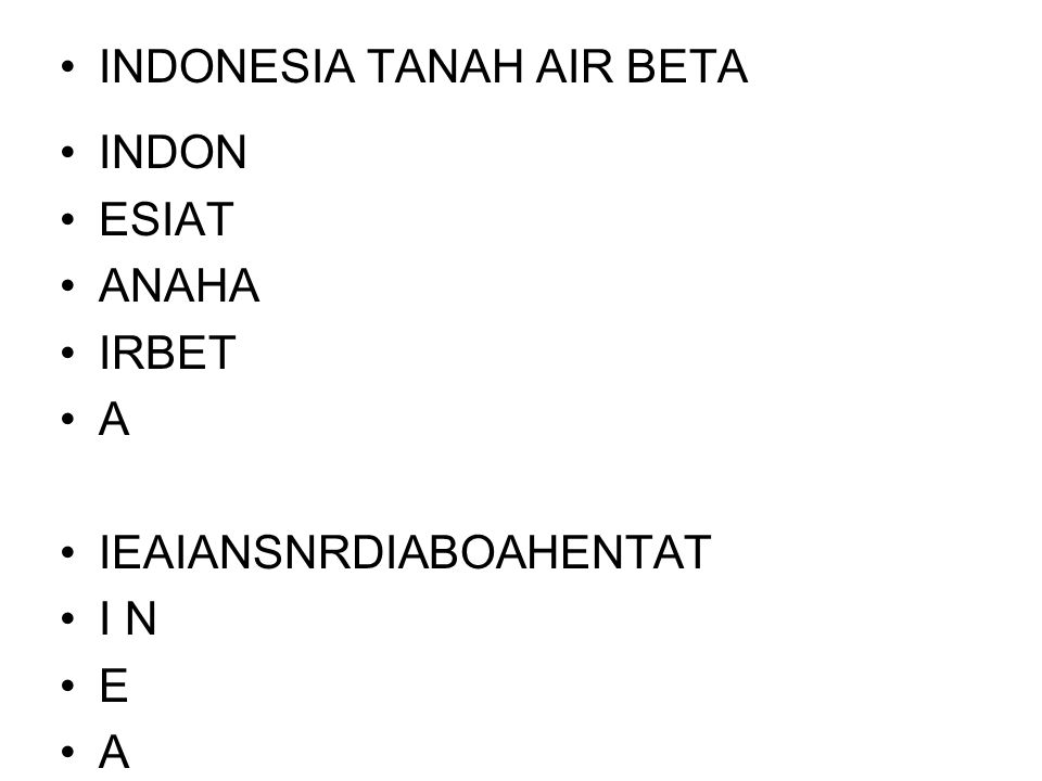 INDONESIA TANAH AIR BETA