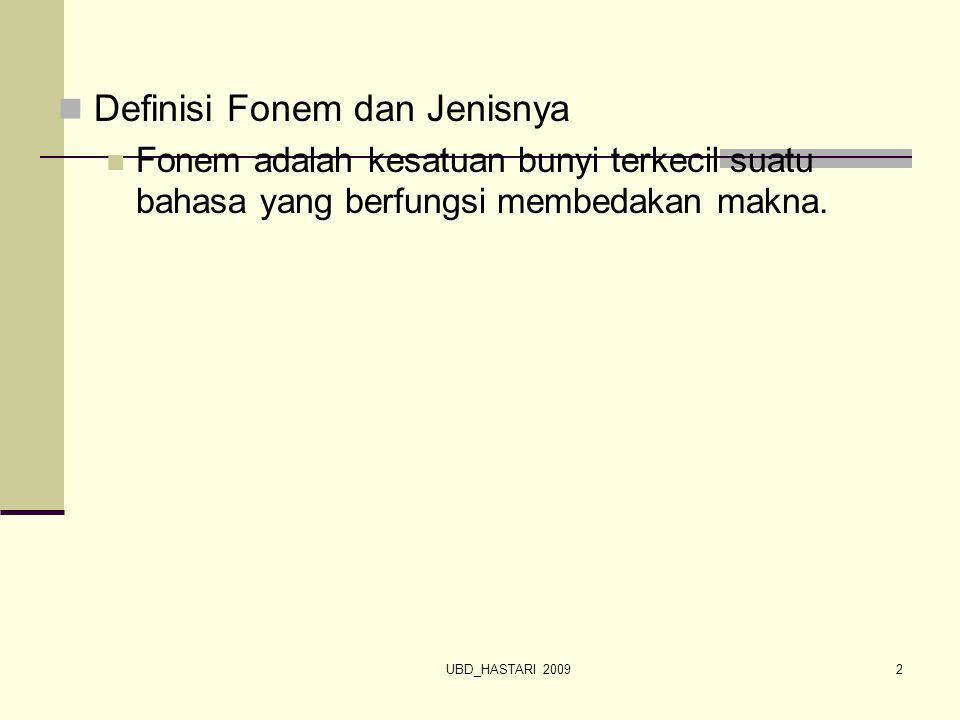 Definisi Fonem dan Jenisnya
