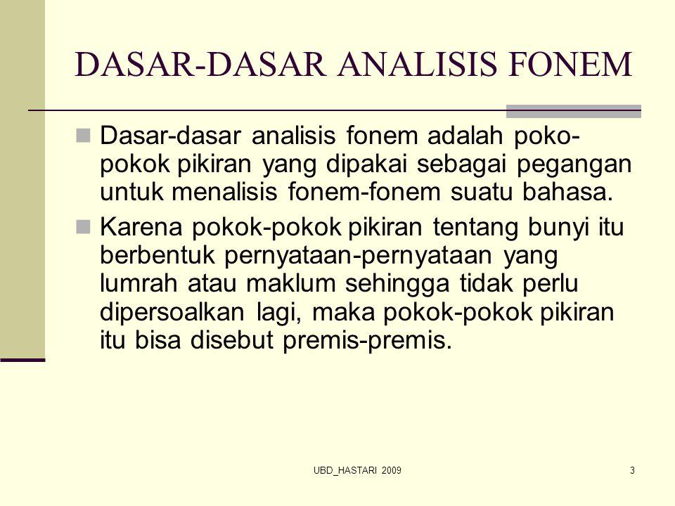 DASAR-DASAR ANALISIS FONEM