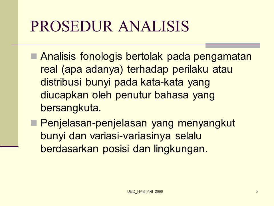PROSEDUR ANALISIS