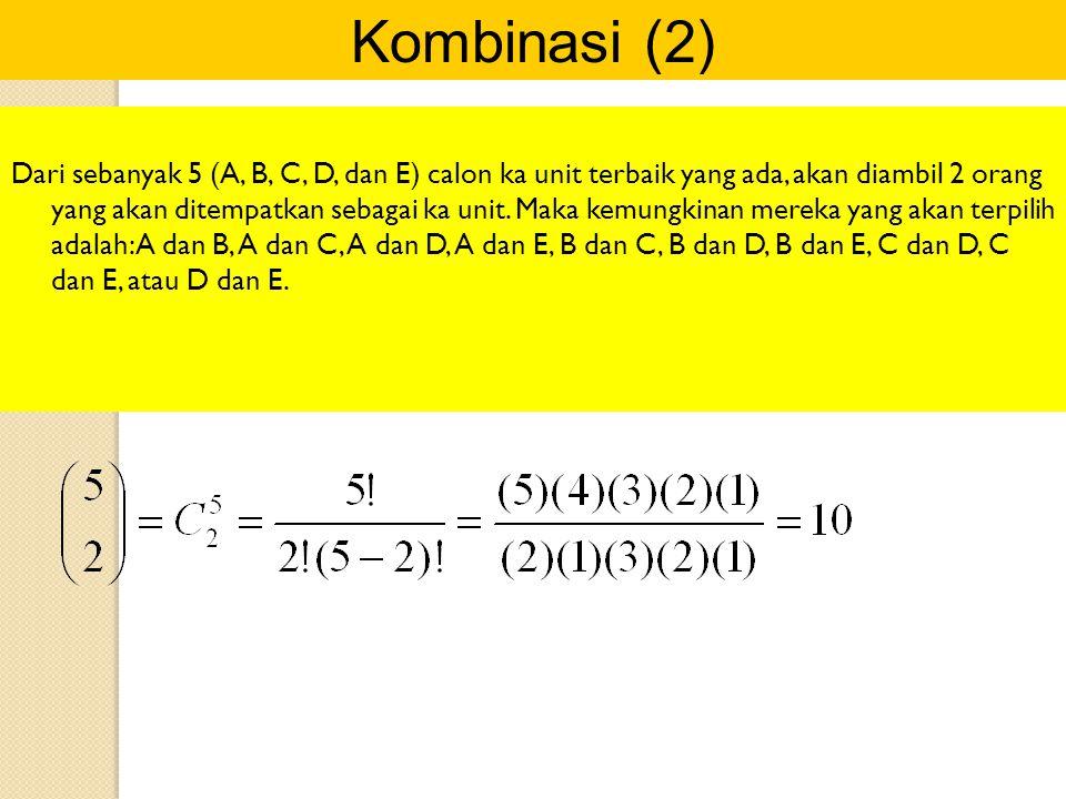 Kombinasi (2)